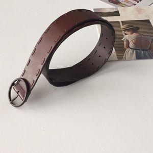 Never worn ANN TAYLOR brown leather belt